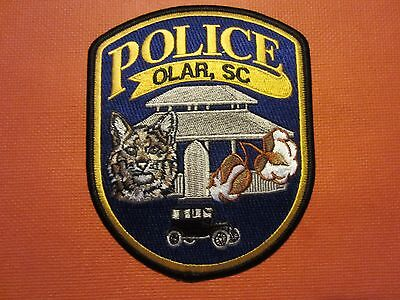 Collectible South Carolina Police Patch, Olar, New
