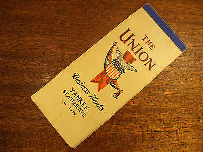 The Union Business Blanks Yankee Statements No. 1915 Vintage