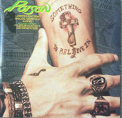 "Poison Something To Believe In Limited Edition 12"" Gatefold Sleeve"