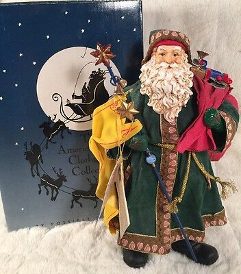 "Possible Dreams Clothtique Santa ""HERALDING THE WAY"" 10 1/2"" Tall 1991"