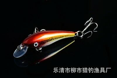 1PCS Fishing tackle 5.7cm 4.5g Minnow sinking fishing lure 3D eyes fishing bait