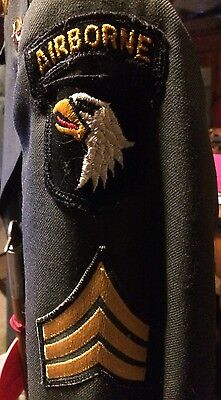 Complete 101st Airborne Uniform Swagger Stick Hat Pants Patch Buttons Post WWII