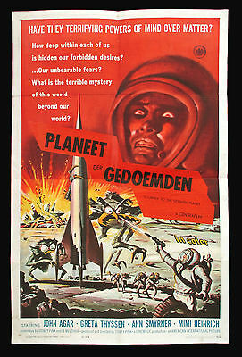 JOURNEY TO THE SEVENTH PLANET original 1961 US one-sheet movie poster SCI-FI