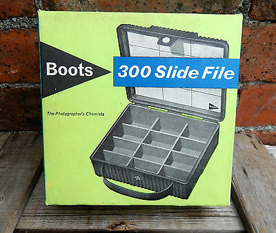 Vintage Storage Carry Case Box '300' for Photographic Photo Slides 35mm - Boxed