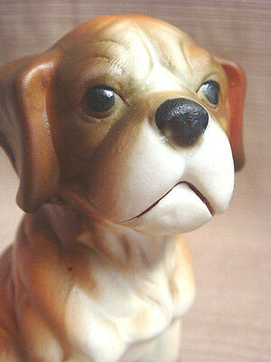 CUTE VINTAGE Ceramic BOXER PUPPY w/ Uncropped Ears