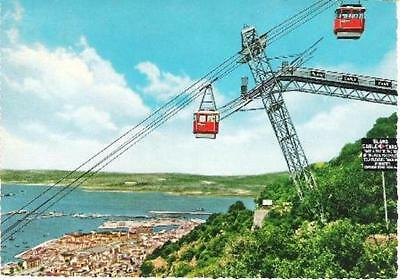 Gibraltar - Town & Cable Cars - postcard c.1960s