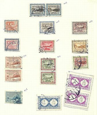 Saudi Arabia 1940s - 1960s used selection on 2 pages