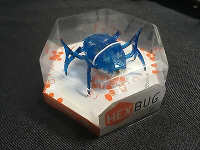 SCARAB HEX BUG MICRO ROBOTIC FLIPPING SPIDER CREATURE Blue BATTERY POWERED ROBOT