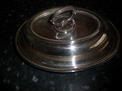 Silver plated serving dish with lid