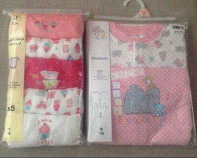 Girls Baby Grow Sleep suit And Vest Bundle Brand New 18-24 Months