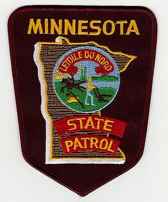 Minnesota State Patrol Police Patch Never Used Clean Free Shipping