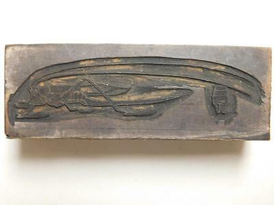 Antique Katydid Wood Carved Print Block Insect Entomology Bug Grasshopper Tray16