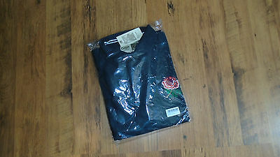 Cotton Traders Traditional England Rugby Shirt Black Sz XL Brand New