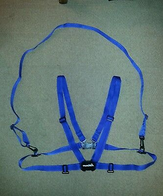 New Large Adult Baby ABDL Sissy Fancy Dress Blue Harness & Reins