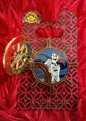 Disney Pirates of the Caribbean wheel pin on card new