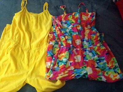 Girls Lot Of 2 Rompers Size 7-8 TCP So Cute