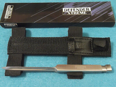 DEFENDER XTREME 9096 Tri Spike stainless 3 angle knife with arm / leg sheath NEW