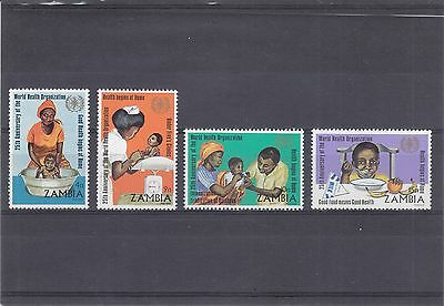 Sambia Zambia 25 years WHO aus 1973, complete set MNH, 2 scans, rare