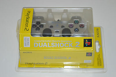 Sony Playstation 2 Satin Silver DualShock 2 Analog Controller NEW IN BOX