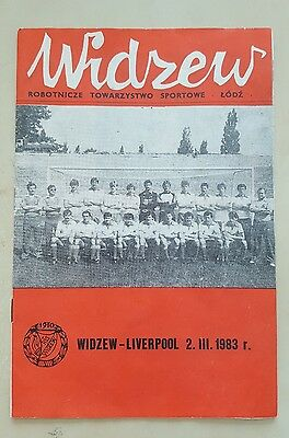 Widzew v Liverpool F.C  program 1983