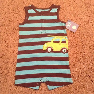 NWT Carter's Baby Toddler Boys Sleeveless Romper Size 12 months  striped