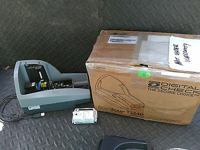 AS IS NOT TESTED Digital Check TS240 TellerScan 240 Check Scanner Reader 75dpm