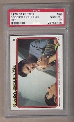 1979 topps star trek 50 spocks fight for life psa gem mt 10