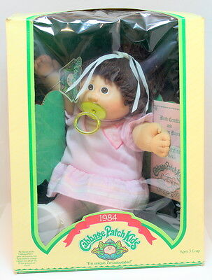 1984 Cabbage Patch Passifier HTF Box Pink Dress Outfit Trixy Vicki NRFB