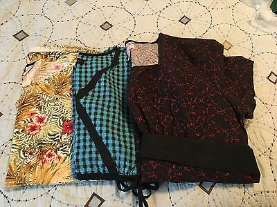 Lot of 3 Womens Scrub Tops - Size Large