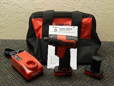 "Snap On 14.4V 1/4"" Hex MicroLithium 2.0 Ah Cordless Screwdriver Kit Model CTS725"