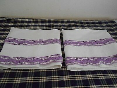 Vintage Crochet Pillow Cases Never Used