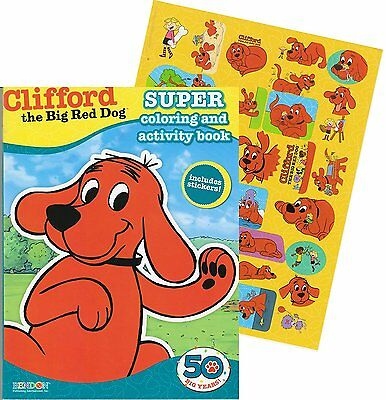 Clifford the Big Red Dog Giant Coloring Book with Stickers 144 Pages
