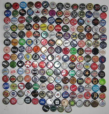 200+ ASSORTED BEER BOTTLE CAPS (Each Different) Many Colors!!!