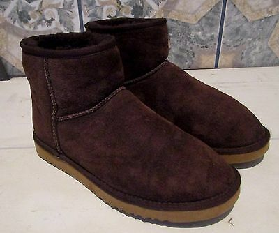 Women's UGG Australia Brown Suede Leather Mini Boots Size 8 US