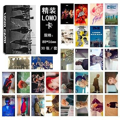 KPOP BIGBANG combination Poster Photo Picture T.O.P Personal Lomo Card 30pcs