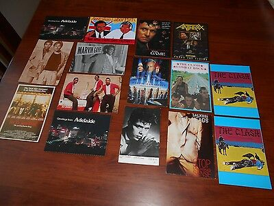 Qty 15 Postcards Movies, Music and Various, Very good Condition