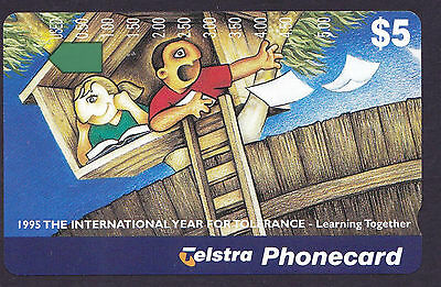 *TELSTRA PHONECARD.MINT.$5.Prefix 920.YEAR OF TOLERANCE.*