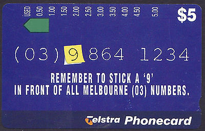 "*TELSTRA PHONECARD.MINT.$5.Prefix 936 or 37.REMEMBER TO STICK A ""9""*"