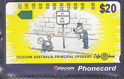 *AUSTRALIA.PHONECARD.MINT.$20.00 LIFELINE.Prefix 797.Collector excess.
