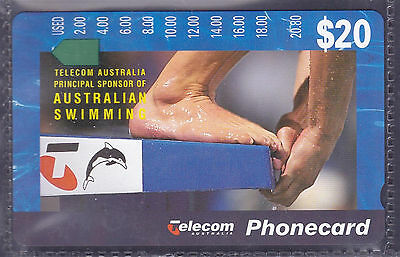 *AUSTRALIA.PHONECARD.MINT.$20.00 SWIMMING.Prefix 796.Collector excess.*