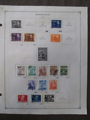 1941-1954 Yugoslavia On Scott Pages - See Description Photos - Unchecked (X124)