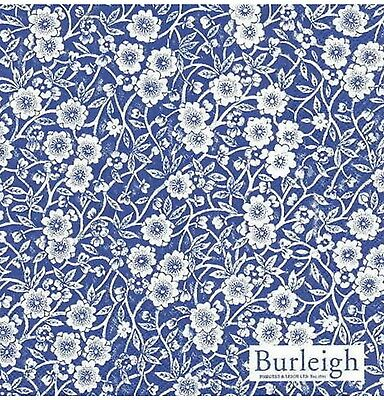 Blue Calico, Blue And White, 20 Paper Napkins, Serviettes, Burleigh, New.