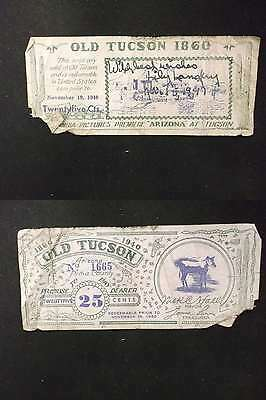 US 1940 Old Tuscon Coupon 25c