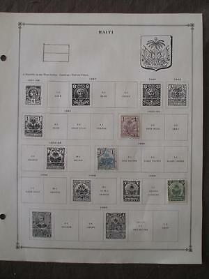 ~1893-1959 Haiti On Scott Pages - Unchecked - W35