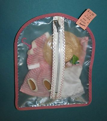 EXTREMELY RARE 1950's SANDRA SUE Outfit Mint in Garment Travel Bag!