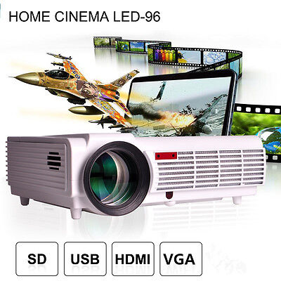 5500LX HD 3D LED 96 Smart LCD Home Theater Video Projector Beamer TV HDMI 1080P