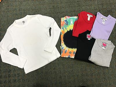 134 Pc New American Apparel Girls Cotton Long Sleeve Tops Sizes 2-12