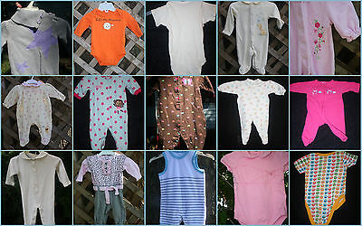 CHOOSE 1 Baby clothes size Newborn 0-3mos one-pc skirt rompers sweater summer