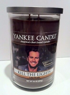 RARE Luke Bryan Kill The Lights Yankee Candle Special Ed. 22 Oz Vanilla Bourbon