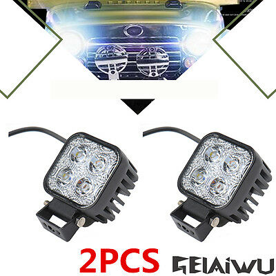 2X12W LED Work Light Car Truck Jeep Boat SUV ATV Offroad Driving Lamp 12-24V